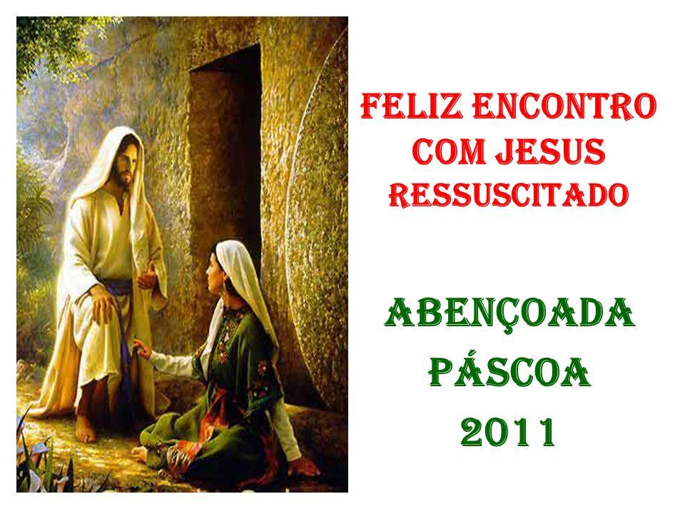 FELIZ ENCONTRO COM JESUS RESSUSCITADO