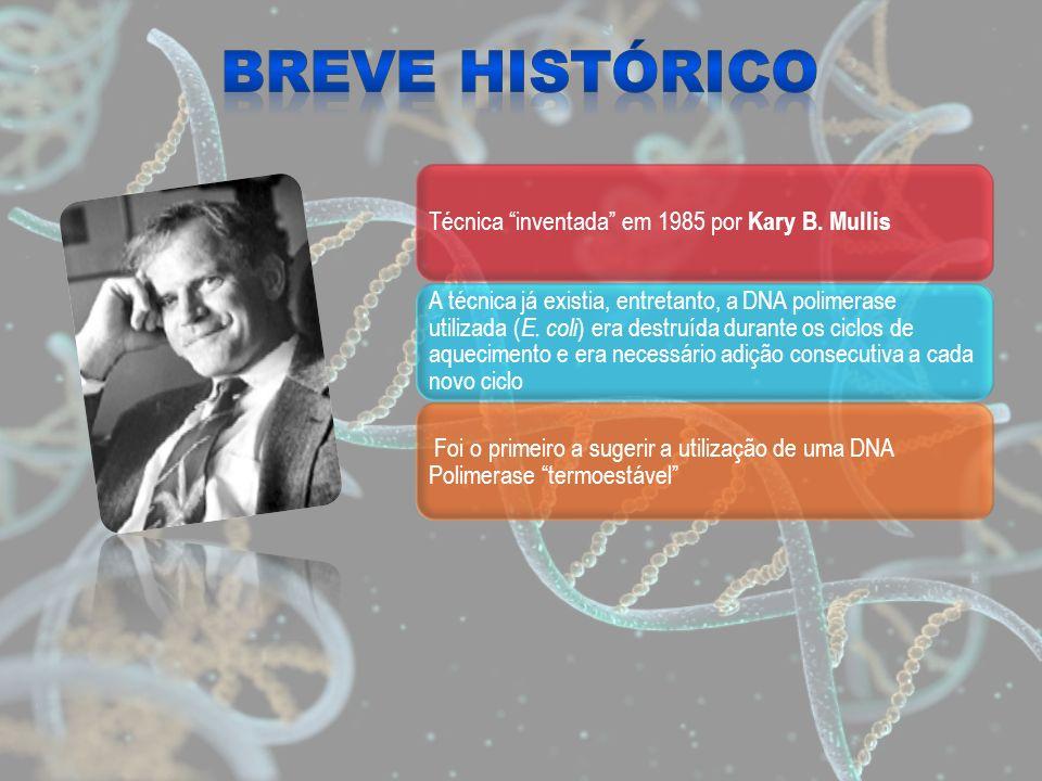 Breve Histórico Técnica inventada em 1985 por Kary B. Mullis.
