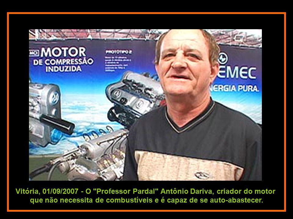 Vitória, 01/09/2007 - O Professor Pardal Antônio Dariva, criador do motor