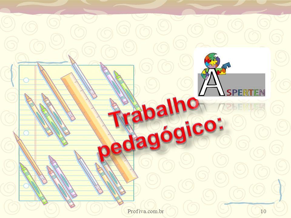Trabalho pedagógico: Prof iva.com.br