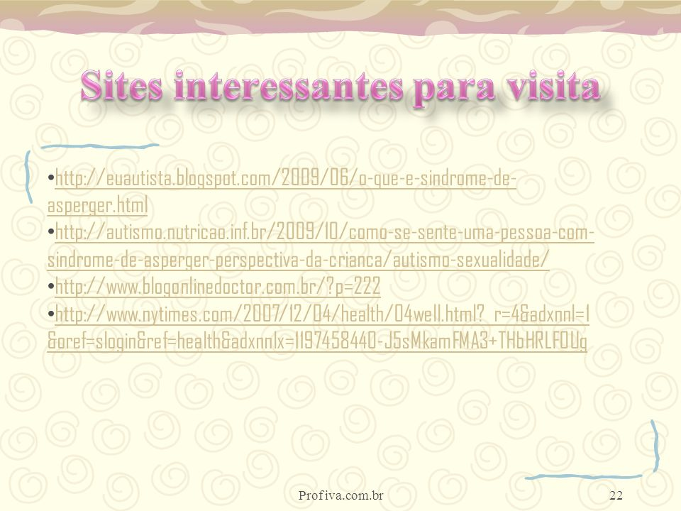 Sites interessantes para visita