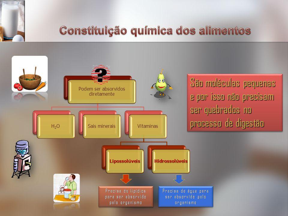 Constituição química dos alimentos