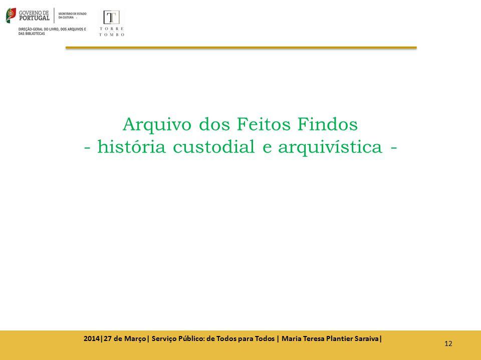Arquivo dos Feitos Findos - história custodial e arquivística -