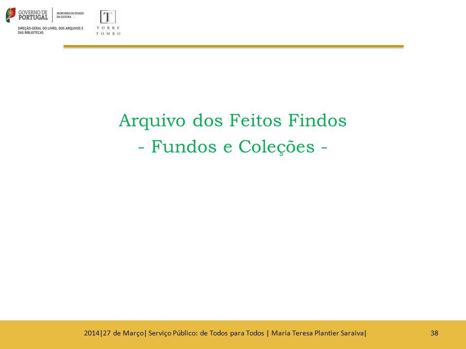 Arquivo dos Feitos Findos - Fundos e Coleções -