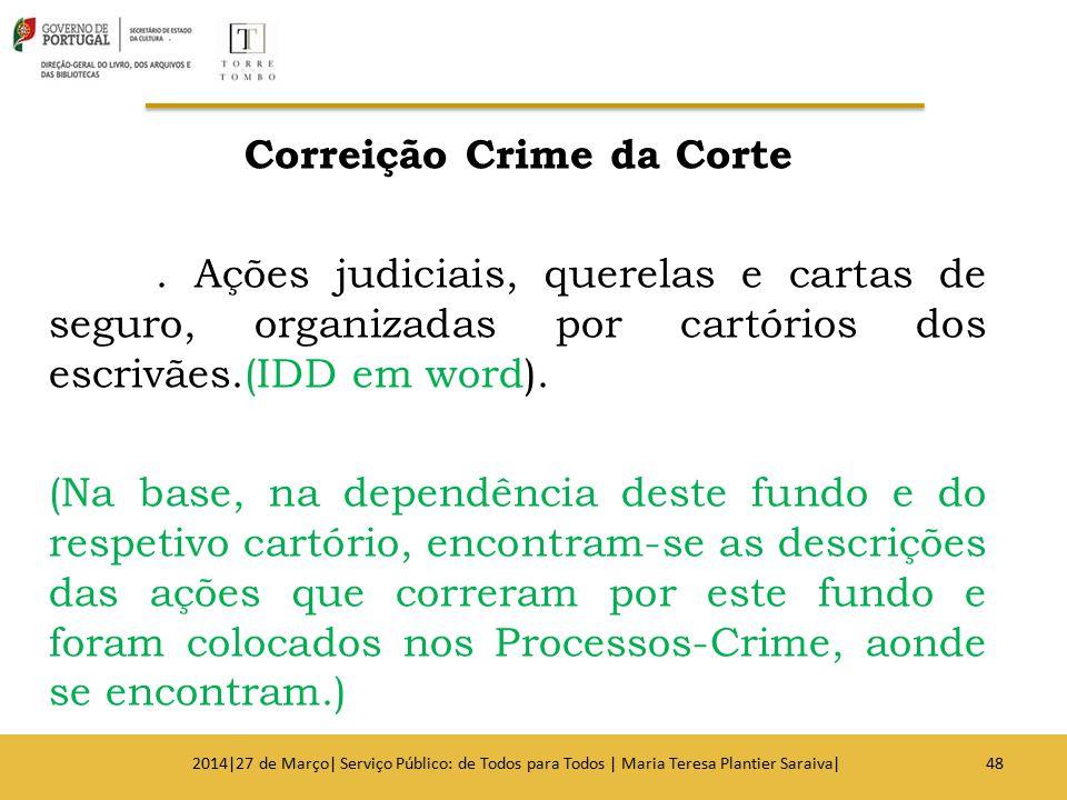 Correição Crime da Corte