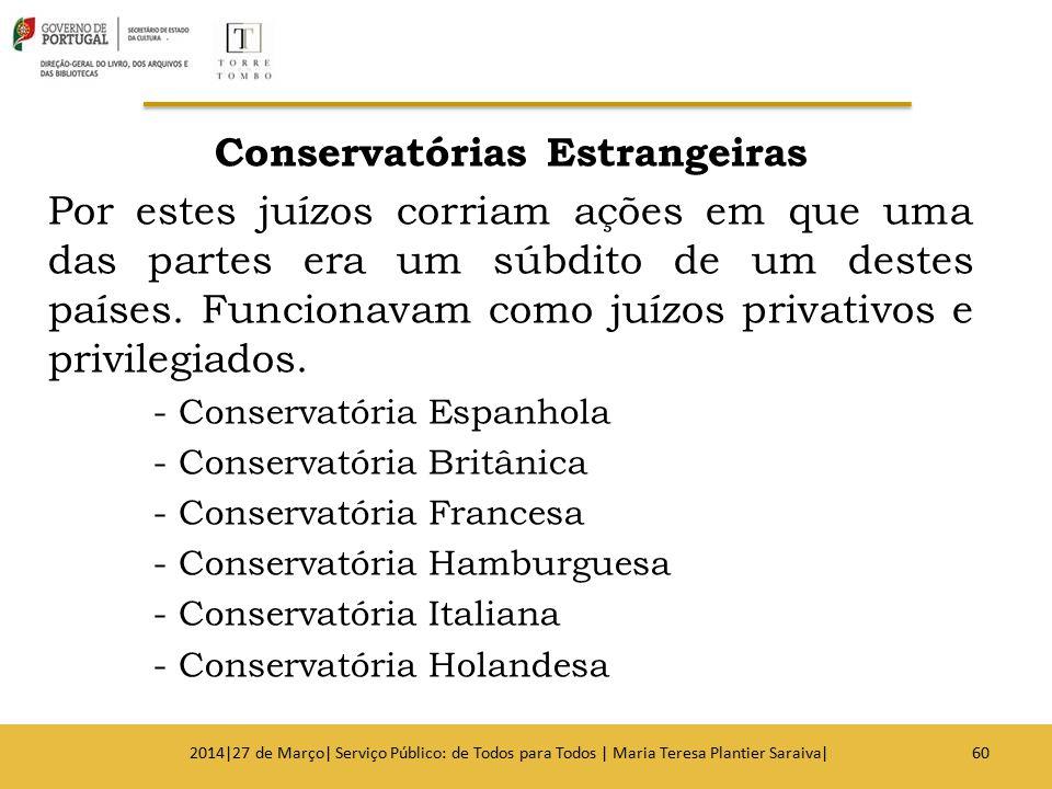 Conservatórias Estrangeiras