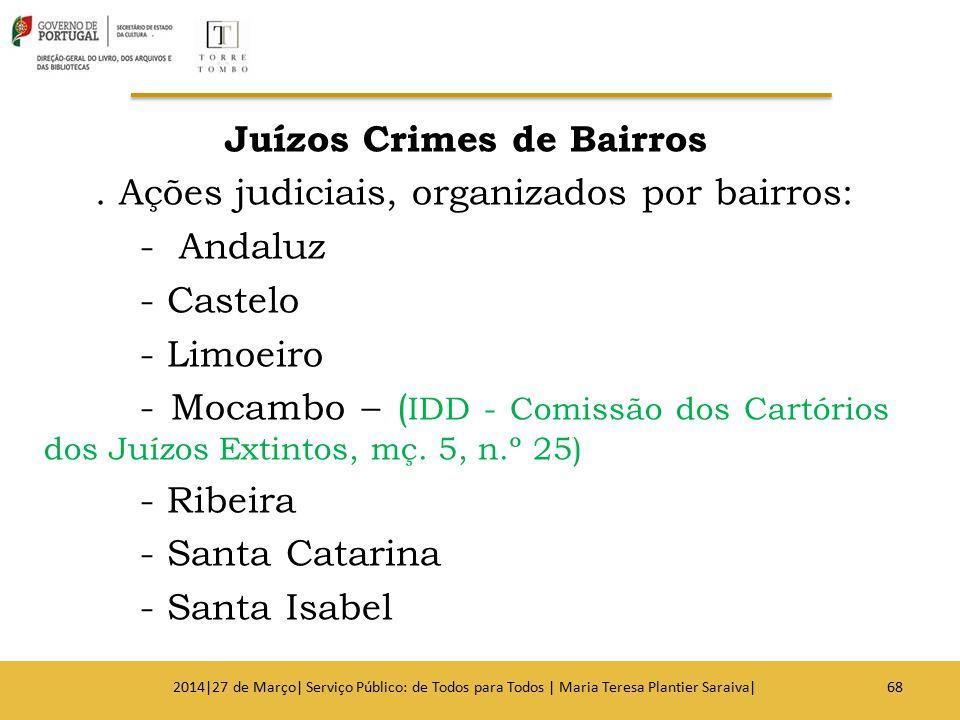Juízos Crimes de Bairros