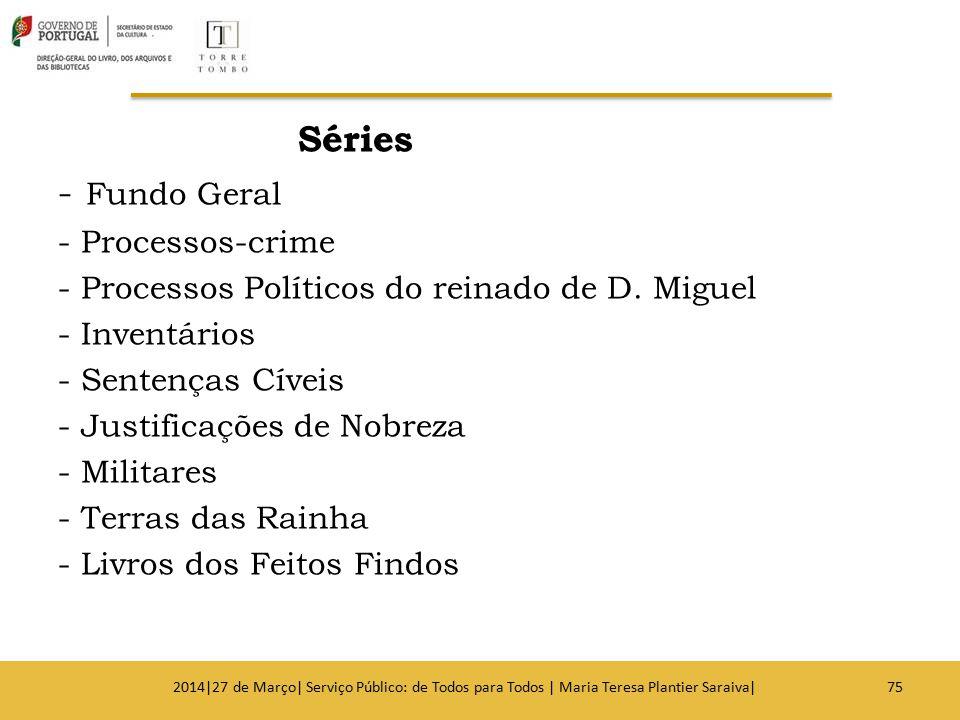 Séries - Fundo Geral - Processos-crime