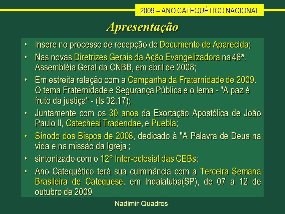 Apresentação Insere no processo de recepção do Documento de Aparecida;