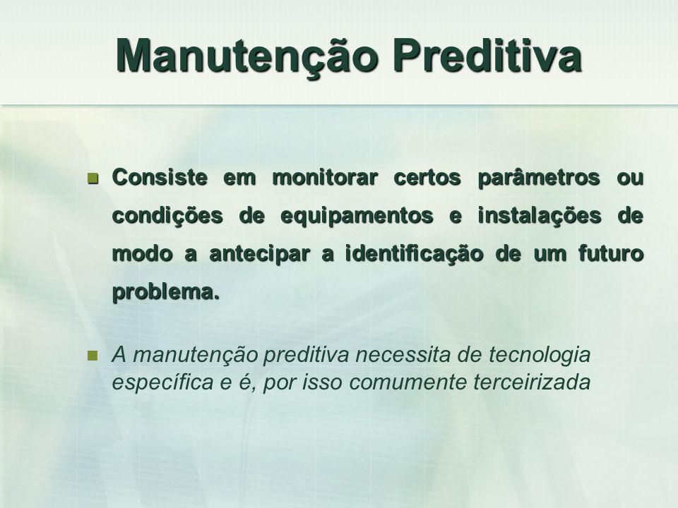 Manutenção Preditiva