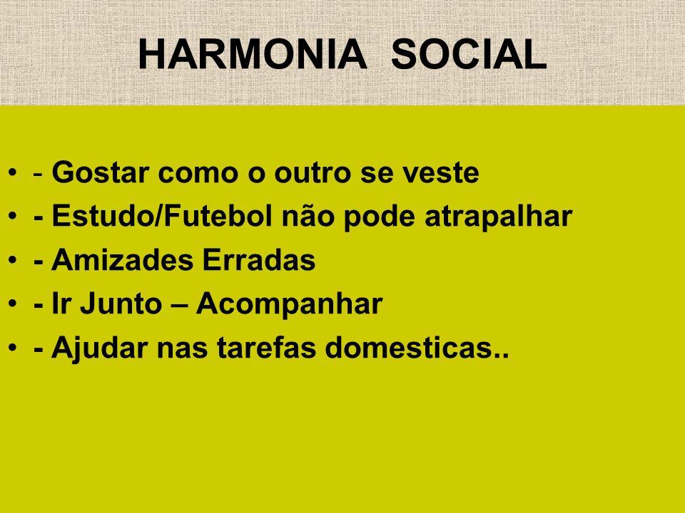 HARMONIA SOCIAL - Gostar como o outro se veste