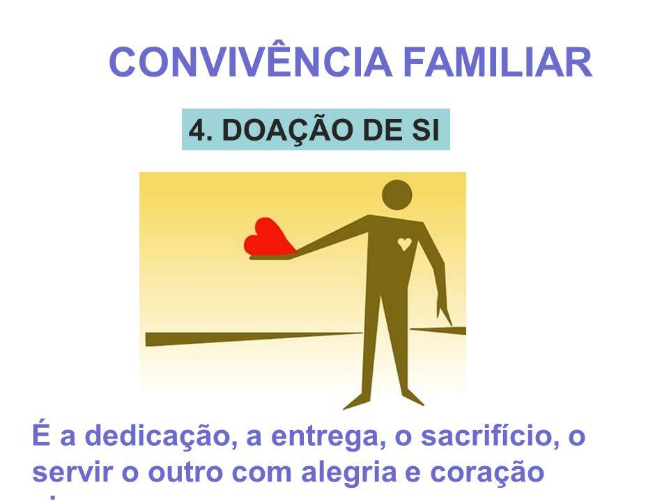 CONVIVÊNCIA FAMILIAR 4. DOAÇÃO DE SI