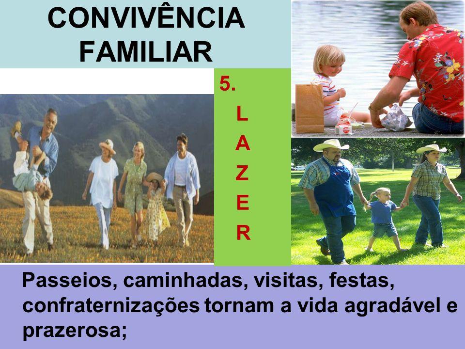 CONVIVÊNCIA FAMILIAR 5. L A Z E R