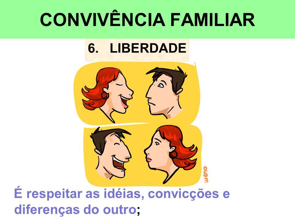 CONVIVÊNCIA FAMILIAR 6. LIBERDADE