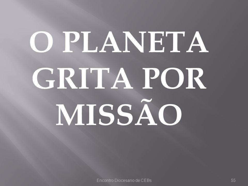 O PLANETA GRITA POR MISSÃO