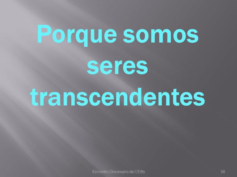 Porque somos seres transcendentes