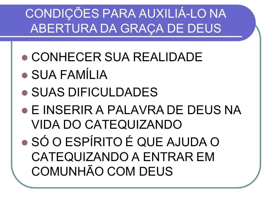 CONDIÇÕES PARA AUXILIÁ-LO NA ABERTURA DA GRAÇA DE DEUS