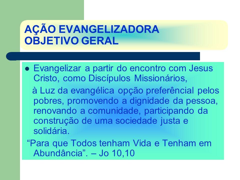 AÇÃO EVANGELIZADORA OBJETIVO GERAL