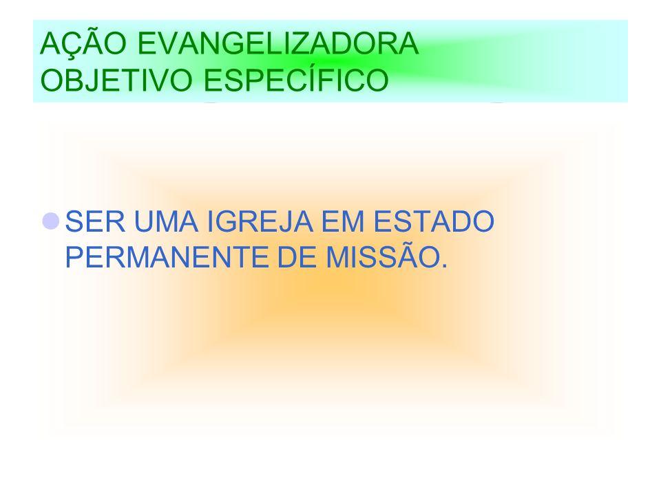 AÇÃO EVANGELIZADORA OBJETIVO ESPECÍFICO