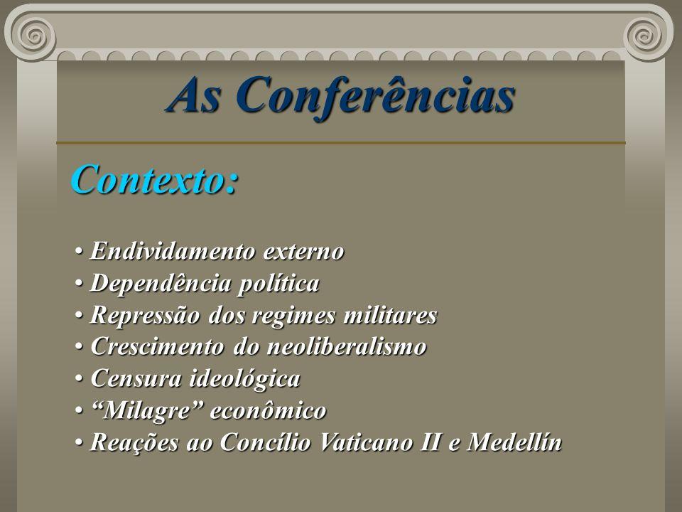 As Conferências Contexto: Endividamento externo Dependência política