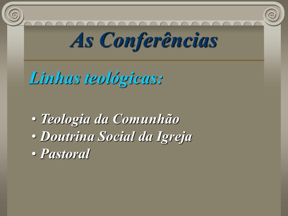 As Conferências Linhas teológicas: Teologia da Comunhão