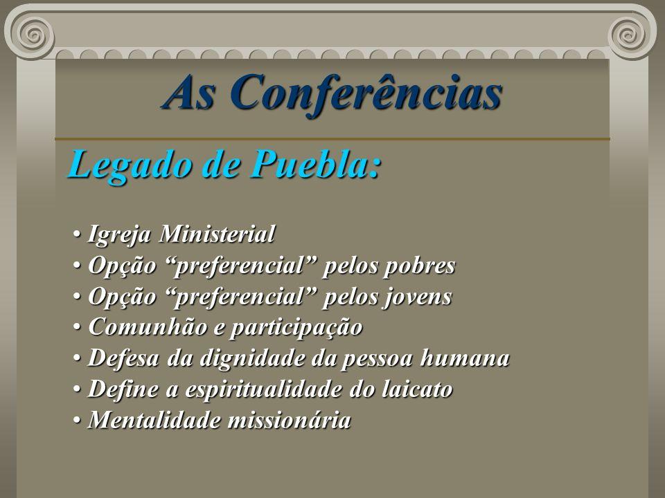 As Conferências Legado de Puebla: Igreja Ministerial
