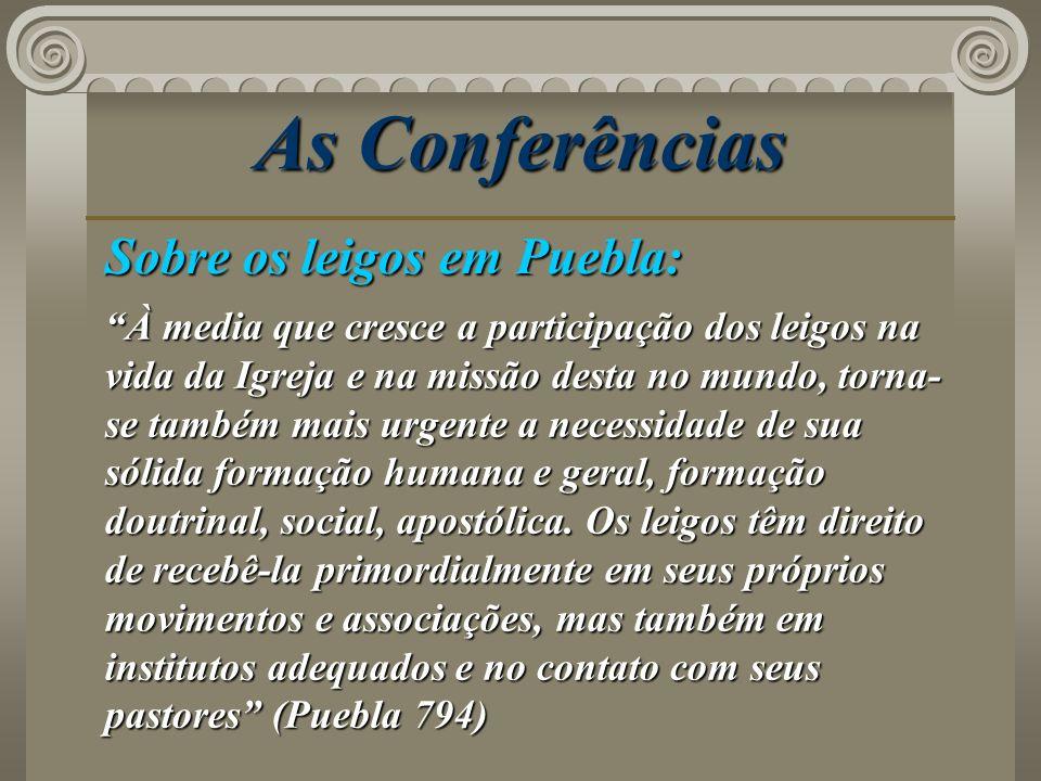 As Conferências Sobre os leigos em Puebla: