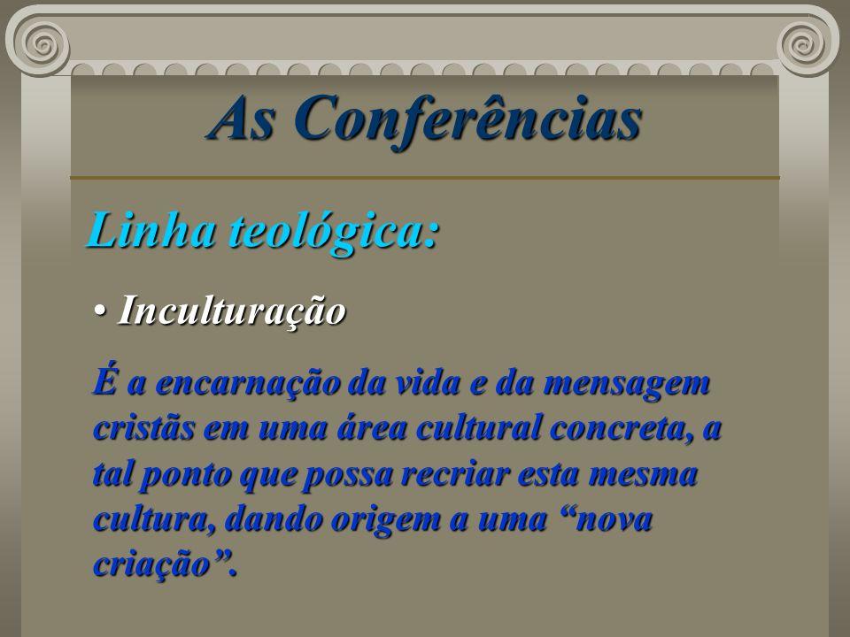 As Conferências Linha teológica: Inculturação