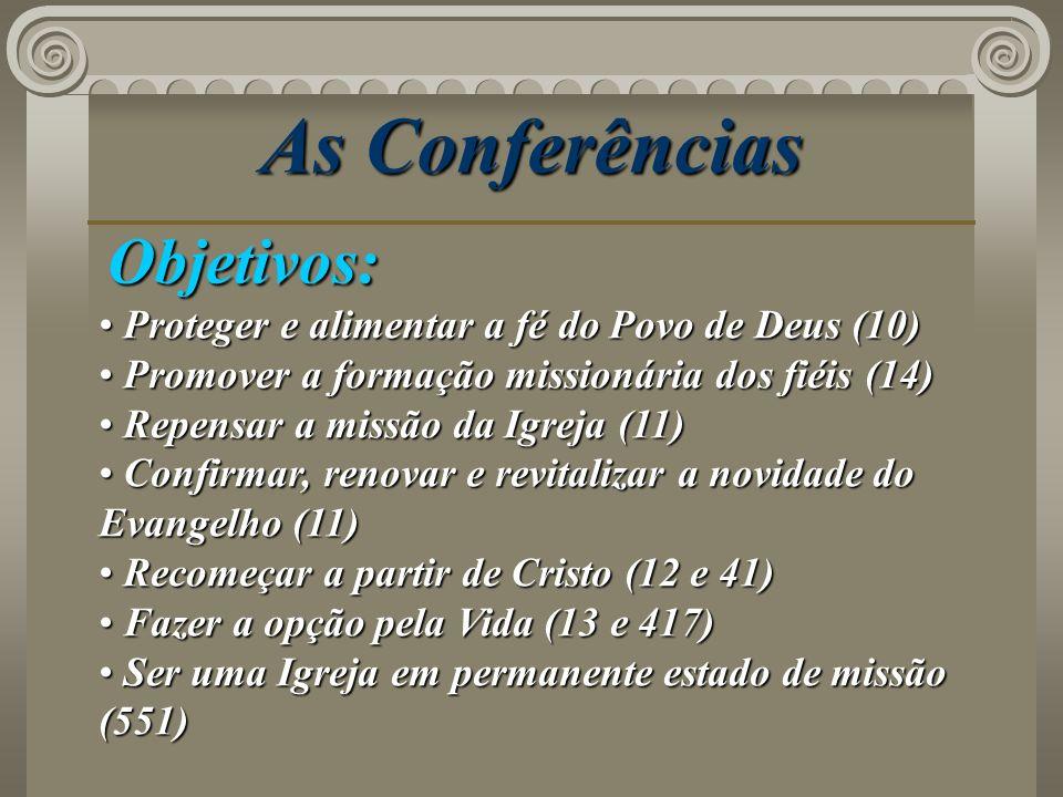 As Conferências Objetivos: