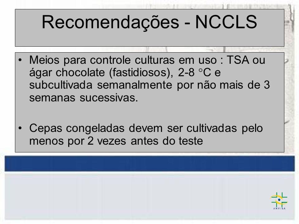 Recomendações - NCCLS