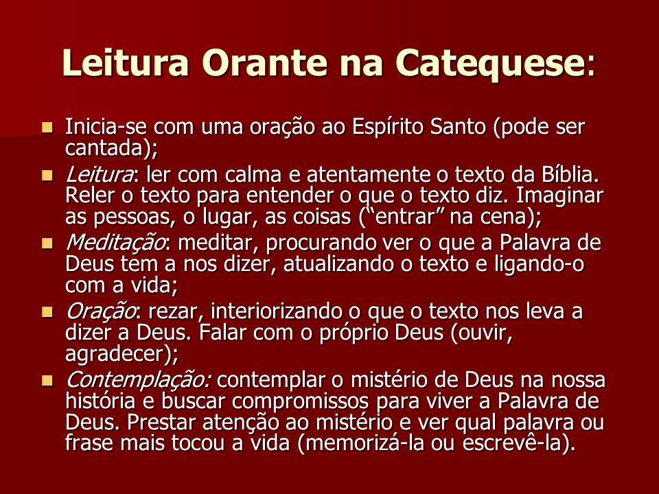 Leitura Orante na Catequese: