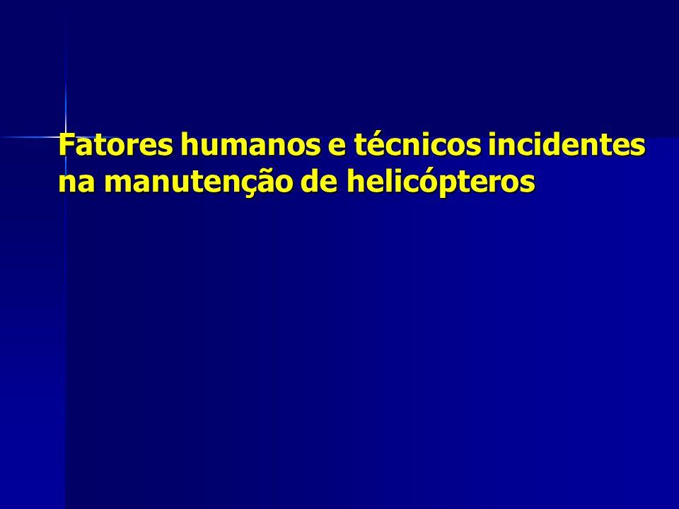 Fatores humanos e técnicos incidentes na manutenção de helicópteros