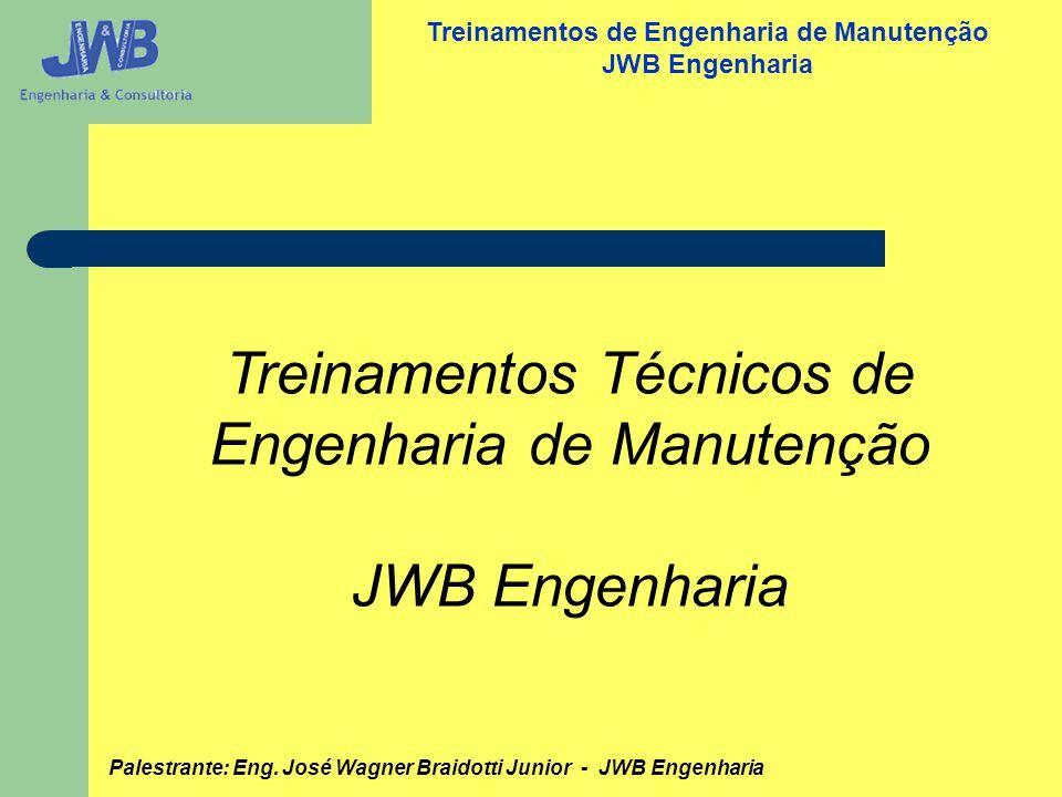 Treinamentos Técnicos de Engenharia de Manutenção JWB Engenharia