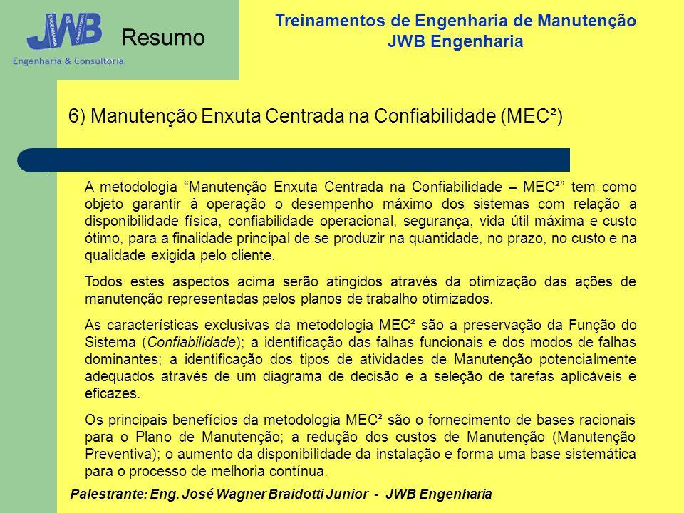 Resumo 6) Manutenção Enxuta Centrada na Confiabilidade (MEC²)