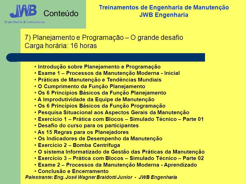 Conteúdo 7) Planejamento e Programação – O grande desafio