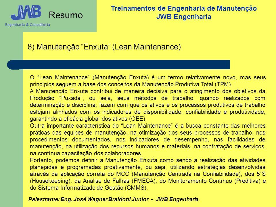 Resumo 8) Manutenção Enxuta (Lean Maintenance)