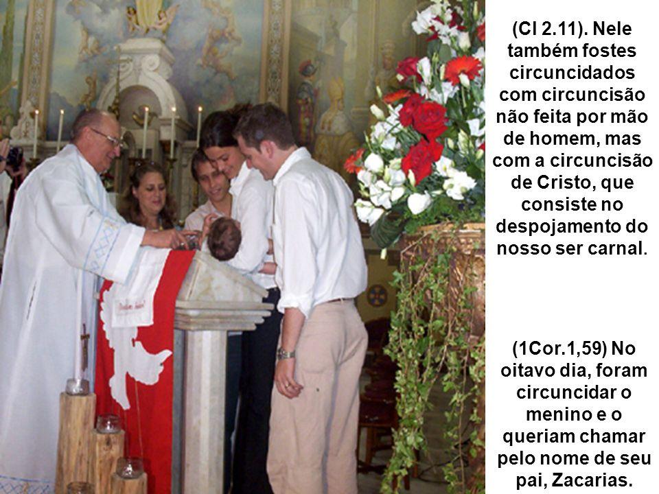 (Cl 2.11). Nele também fostes circuncidados com circuncisão não feita por mão de homem, mas com a circuncisão de Cristo, que consiste no despojamento do nosso ser carnal.