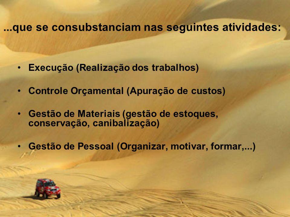 ...que se consubstanciam nas seguintes atividades: