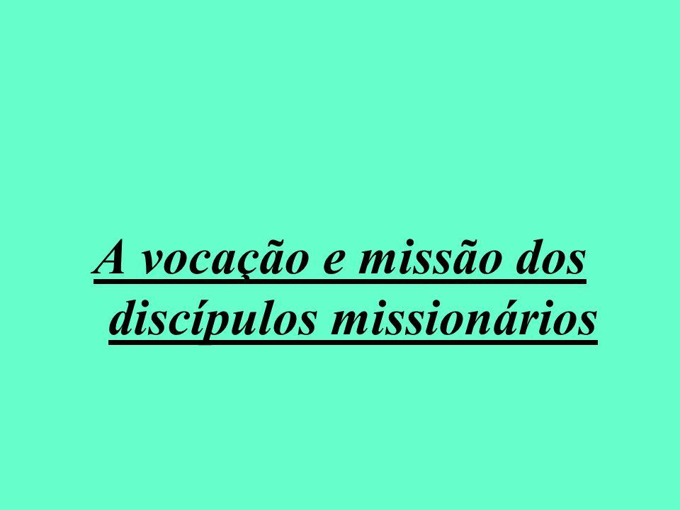 A vocação e missão dos discípulos missionários