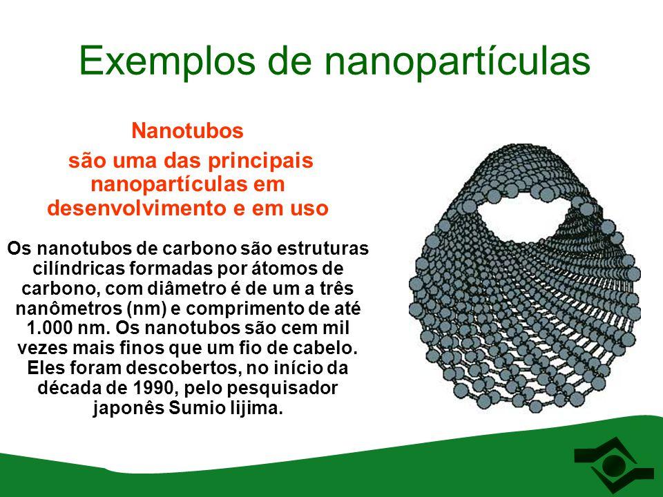 Exemplos de nanopartículas
