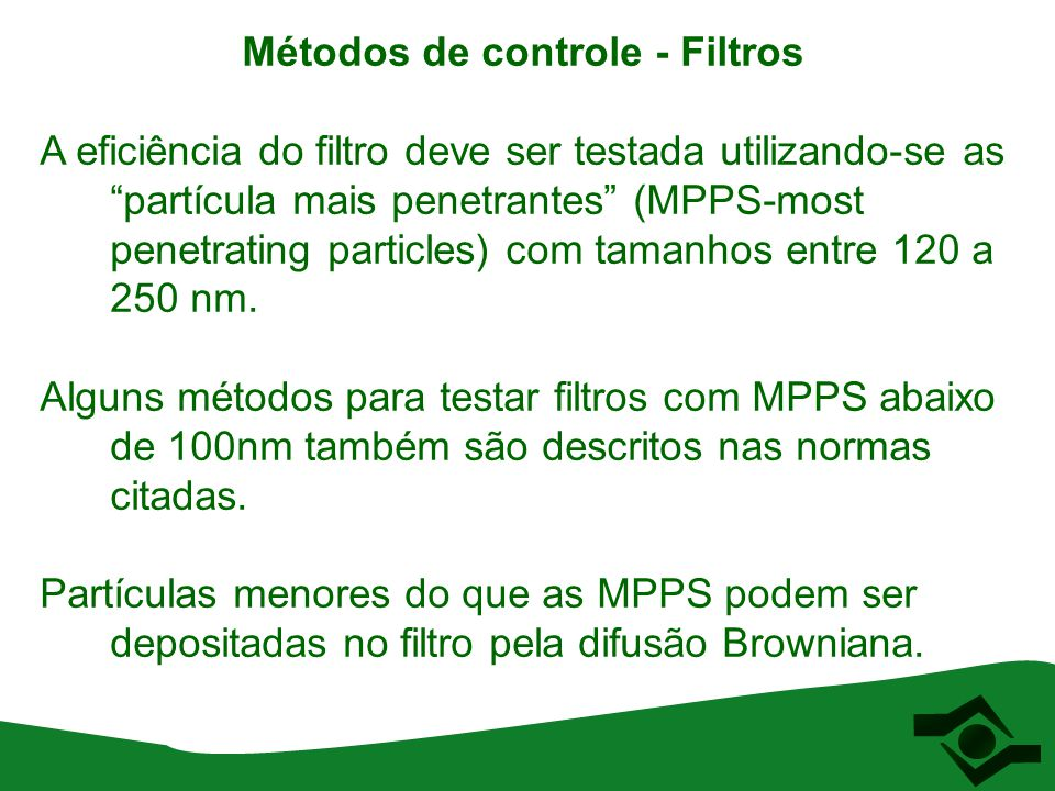 Métodos de controle - Filtros