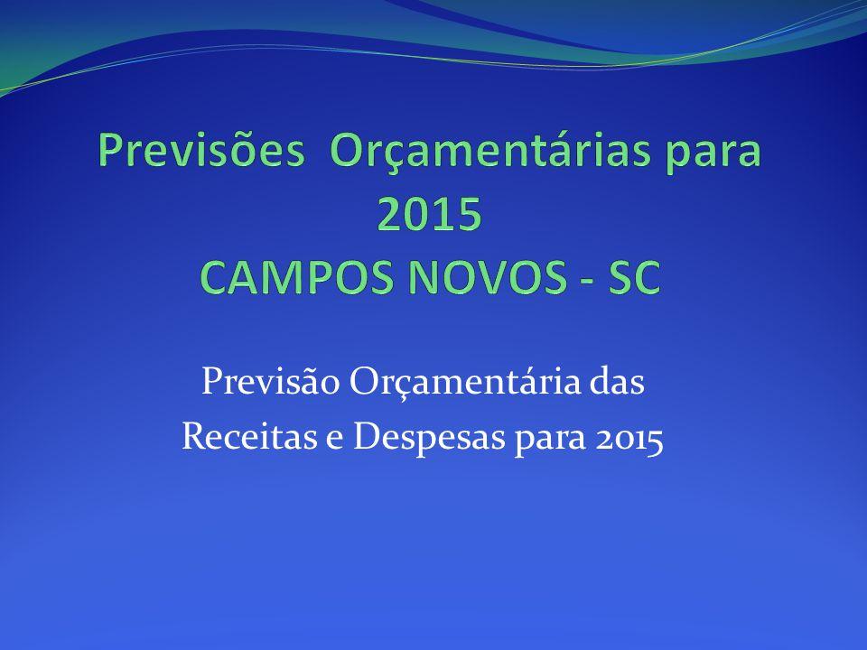 Previsões Orçamentárias para 2015 CAMPOS NOVOS - SC