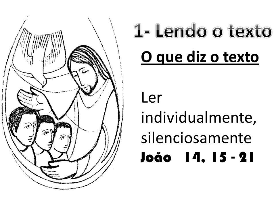 1- Lendo o texto O que diz o texto