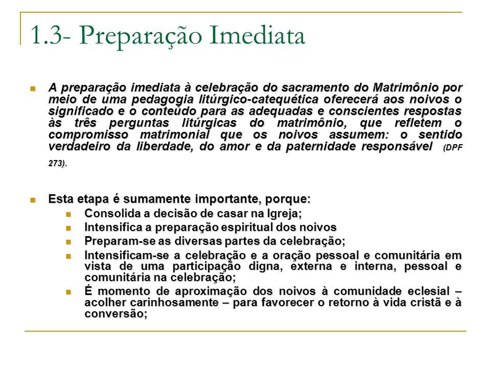 1.3- Preparação Imediata