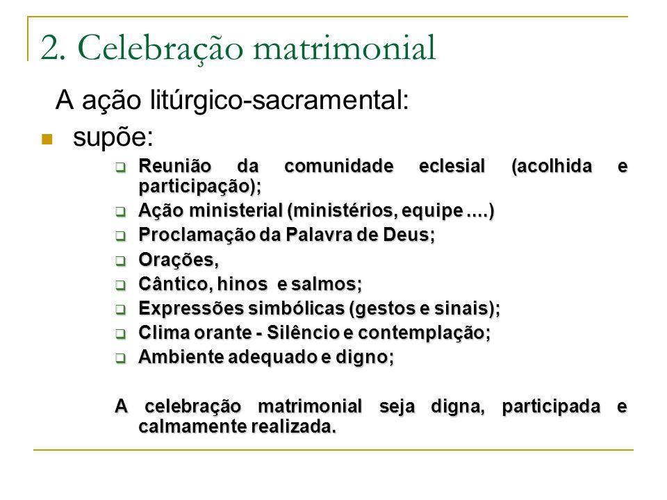 2. Celebração matrimonial
