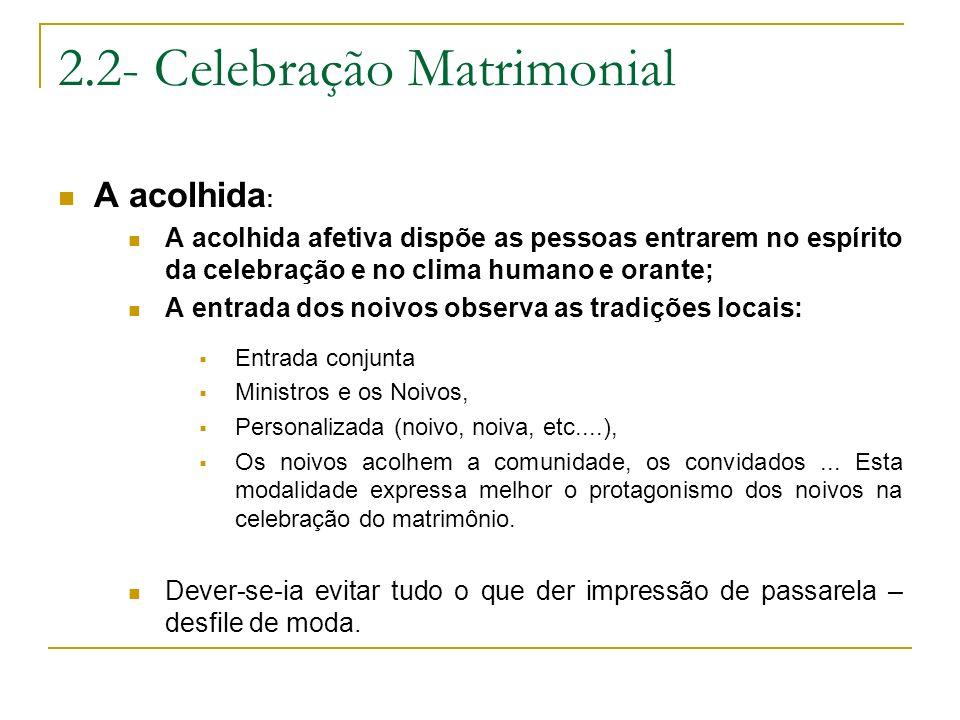 2.2- Celebração Matrimonial
