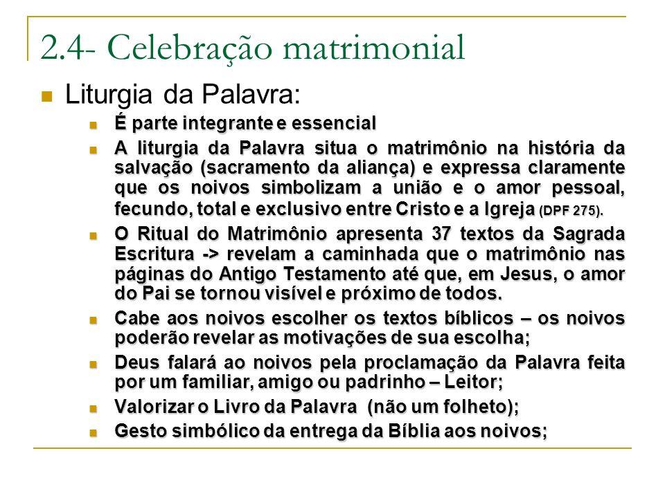 2.4- Celebração matrimonial