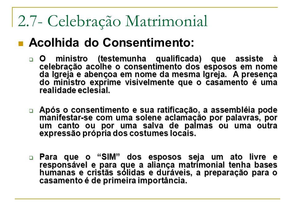 2.7- Celebração Matrimonial