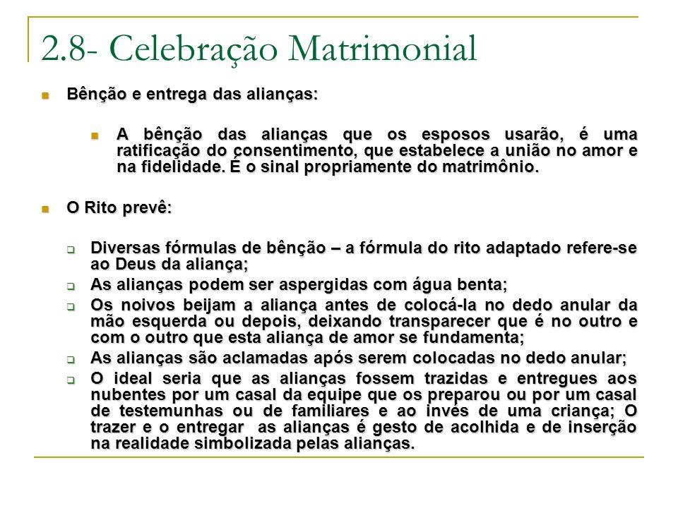 2.8- Celebração Matrimonial