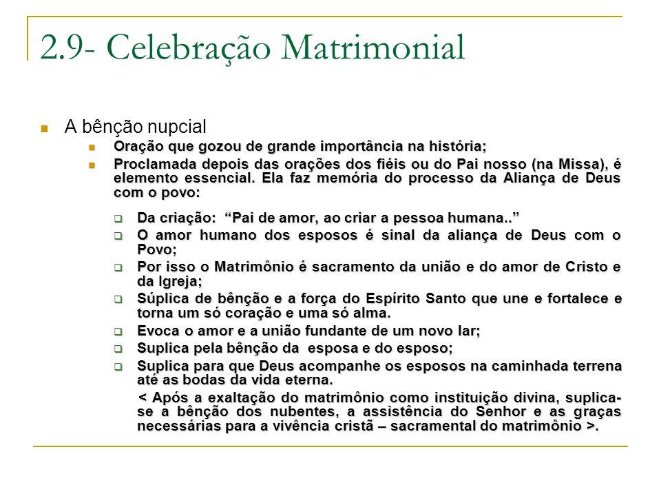 2.9- Celebração Matrimonial